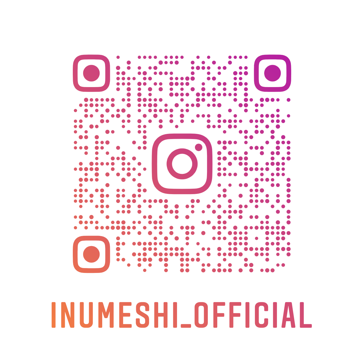 INUMESHI公式のインスタグラムアカウント